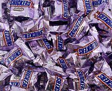 Snickers Mini Bite Size Milk Chocolate Candy Bar, Purple Wrap 2 Pound Bag