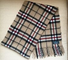 MARCHBRAE 100% Cashmere Checked Scarf