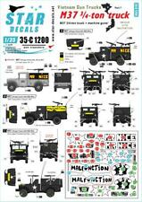 Star Decals 1/35 Vietnam Gun Trucks Part 7: M37 3/4-ton Truck 35C1200 x