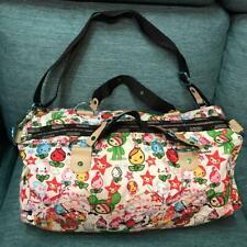 tokidoki for LESPORTSAC Authentic Multicolor Rainbow Zipper Boston Bag Used