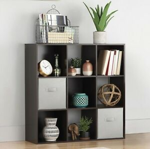 Relaxed Living 9-Cube Organizer in Espresso