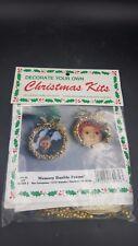 Merri Mac Christmas Memory Bauble Frame Ornament Kit Set of 2 New Sealed