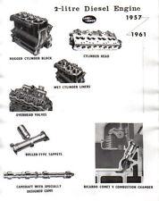 Land rover série ii 2 litres moteur diesel press photo montrant bloc cylindre