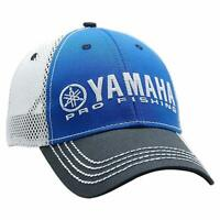 Yamaha New OEM Pro Fishing Mesh Hat, Blue w/Black Bill, CRP-16HPF-BK-NS