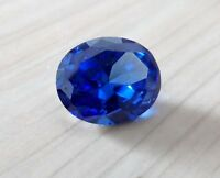 Brilliant Blue Sapphire Oval Faceted Cut VVS Loose Gemstone From China
