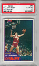 1981 TOPPS BILL LAIMBEER RC PSA 10 RARE POP 15