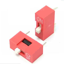 10pcs 2.54mm Red Pitch 8-Bit 1 Positions Ways Slide Type DIP Switch Sales BH