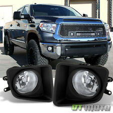 For 2014-2018 Toyota Tundra Clear Bumper Fog Lights Lamps w/ Switch Left+Right