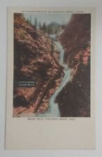 Vintage Seven Falls Cheyenne Canon Postcard - Hungarian Flour Mills (Un-Posted)