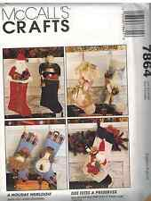 7864 UNCUT McCalls Vintage SEWING Pattern Christmas Santa Angel Stockings Decor