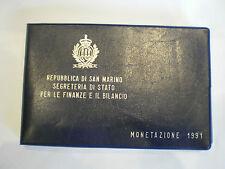 REP. SAN MARINO MONETAZIONE 1991 FDC CON L. 1000 ARGENTO - DIVISIONALE 1991 FDC