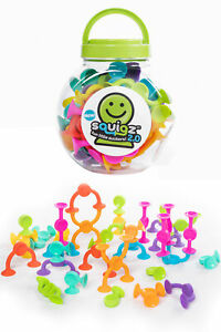 Squigz 2.0 (36 Piece Set) by Fat Brain Toys | Suction Construction Evolved