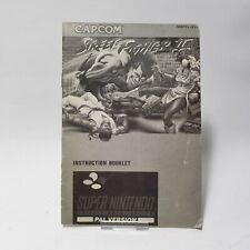 Street Fighter II 2 SNES Super Nintendo Replacement Instruction Booklet Manual