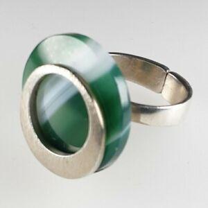 Designer Ring 925 Sterling Silber Edelstein 💎 Modernist Vintage