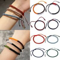 Lucky Wish Woven Tibetan Buddhist Bracelets Women Men Braided Knot Friendship