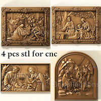 3d stl model cnc router artcam aspire birth jesus panno collection basrelief