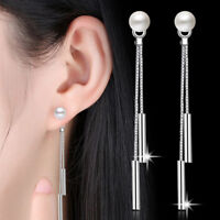 Women 925 Sterling Silver Jewelry Drop Dangle Stud Earrings Wedding Party Gifts