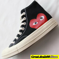 Comme Des Garcons Play Chuck Taylor Fashion High Low Tops Black / White Shoes