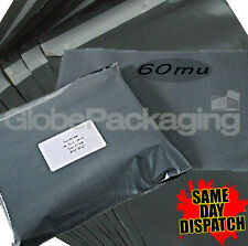 """60 x STRONG GREY POSTAL MAILING BAGS 10x14"""" MAILERS"""