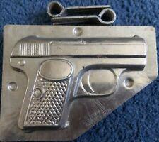 Vintage German Gun shaped metal chocolate mould.