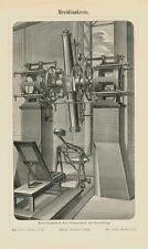 Meridiankreis Sternwarte Apparat 2 Original Tafeln von 1892 Txz M5 16x24 cm+Text