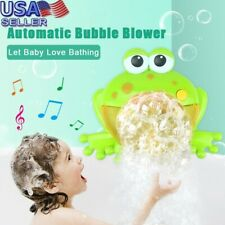 Kids Bubble Big Frogs Automatic Bubble Maker Blower Music Bath Toy For Baby Miw