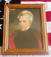 Framed Painting, Portrait of President Andrew Jackson on canvas