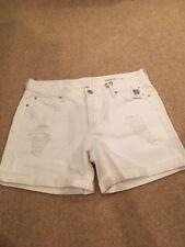 DL1961 Karlie Boyfriend White Distressed Cuffed Denim Shorts Size 30 NWT