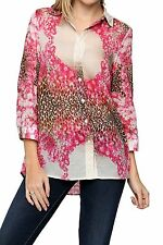 Damenblusen, - tops & -shirts mit klassischem Kragen und Tiermuster
