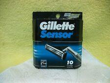 Gillette Sensor 10 Piece Self-Adjusting Twin Blades Replacement Razors