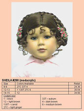 "Monique Doll Wig ""Sheila"" Size 12-13 Lt. Brown - Alpine Braids & Flowers"