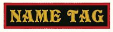 "4"" x 1.5""  Name Tag Motorcycle Biker Patch"