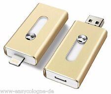 8GB i-USB-Storer Gold 3in1 OTG USB Flash Drive für iPhone und iPad