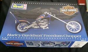 vtg 1996 REVELL 1/8 MODEL KIT HARLEY DAVIDSON FREEDOM CHOPPER UNBUILT SEALED