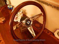 "BMW 02  2002 Wood Steering Wheel 13.75"" Vintage HUB BOSS NARDI BMW Horn Button"