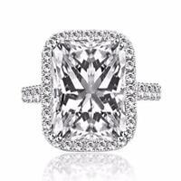 3 Carat Radiant Cut Diamond Engagement Ring VS1/D White Gold 14k 6114