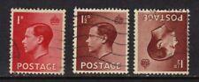 Gb 1936 Kev111 1d & 1 1/2d & Invert wmk ( F125 )