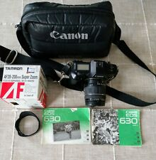 Canon EOS 630 35MM Camera w/Tamron Super Zoom Lens, Strap, Bag & Manuals