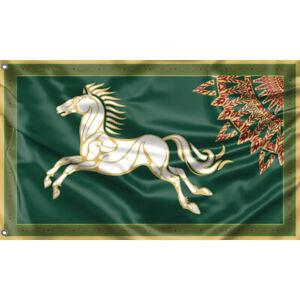 LOTR Rohan Horse Flag Unique Design, 3x5 Ft / 90x150 cm size, EU Made