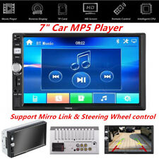 "Car 7"" HD Stereo FM 2 DIN MP5 Touch Screen Bluetooth Android iOS w/ Rear Camera"