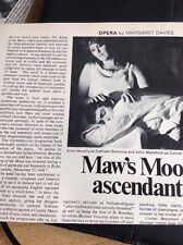M6-2 Ephemera 1970 Nicholas Maw Opera The Rising Of The Moon Sweeney Wakefield
