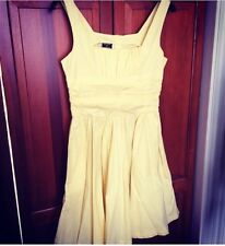 Vintage Iconic Rare KATE MOSS TOPSHOP Yellow 50s 60s Cotton Dress - 10