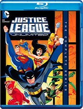 Justice League Unlimited . The Complete Series . Season 1 2 3 . 3 Blu-ray . NEU