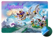 Personalised Lego Elves Flying Chariot Placemat - Easy Clean - EVA Sponge Backed