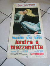 LOCANDINA LONDRA A MEZZANOTTE Jayne Mansfield, Christopher Lee TERENCE YOUNG