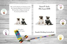 Personalised Childrens Kids Wedding Activity Pack Book Favour Bride Dog AB66