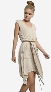 Star Wars Her Universe Rey Speeder Dress Women's size Large With Belt Beige RARE