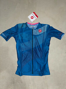 Castelli Cycling Women's BRAND NEW Free Speed 2 Running Top Blue Size Small