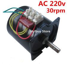 AC 220v 30rpm Reversible Motor Strong Magnetic Torque D-shape shaft slow speed
