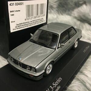 Minichamps 1:43 BMW 3 Series 1989 Silver Metallic 431-024001
